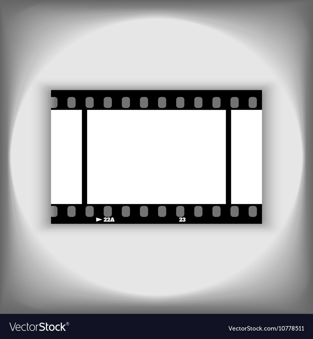 Template photo or video 35mm frame design vector image