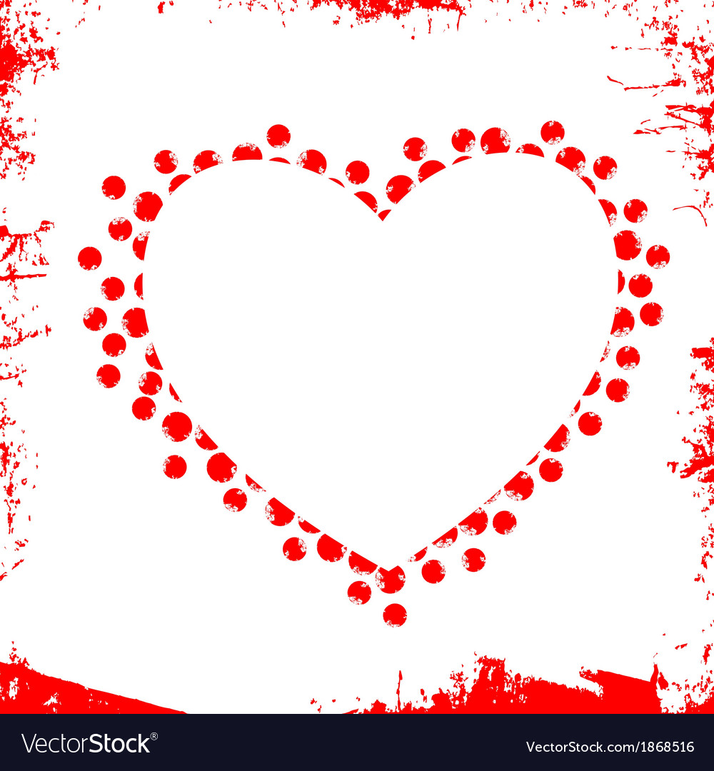 Abstract Grunge Heart vector image