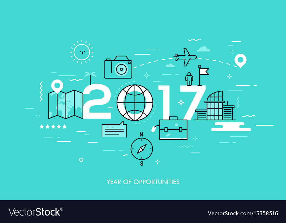Infographic banner 2017 - year of opportunities