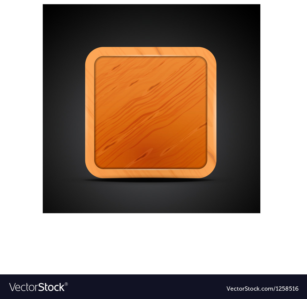 Mobile app icon - wood textured square blank