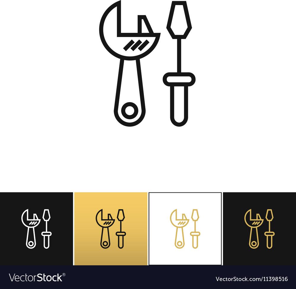 Tools logo or industrial utilities icon