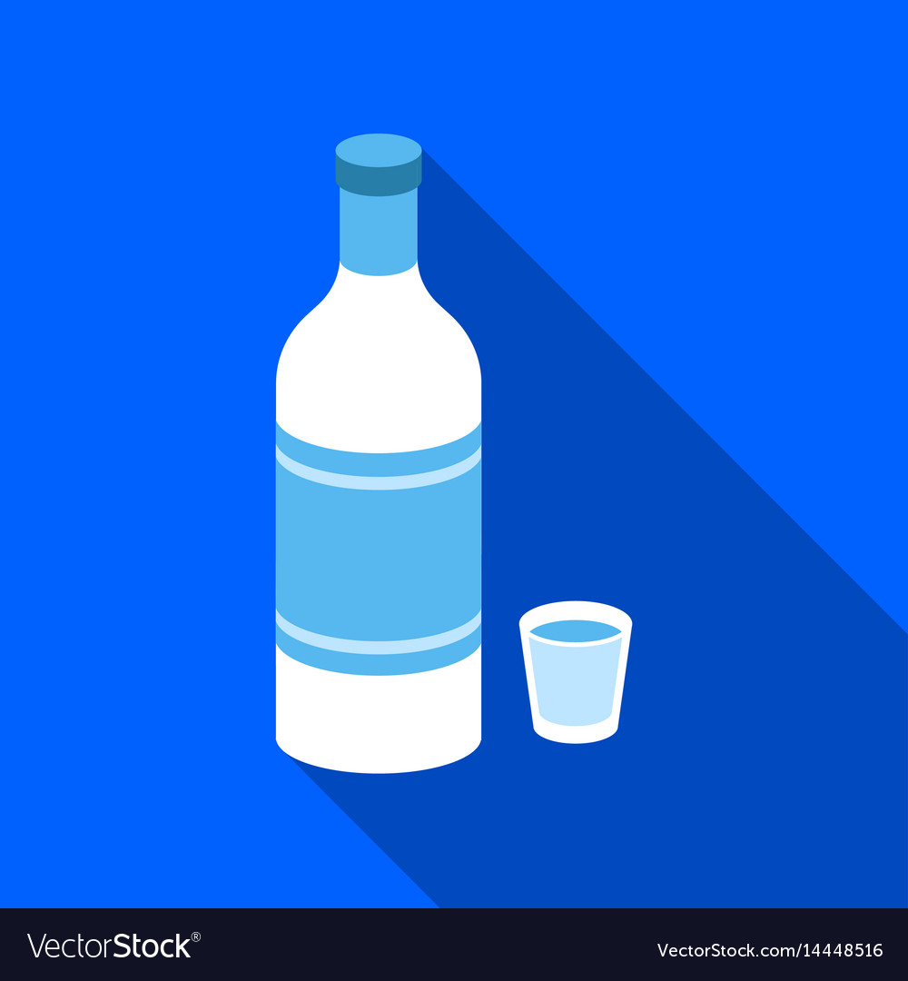 Vodka icon in flat style isolated on white