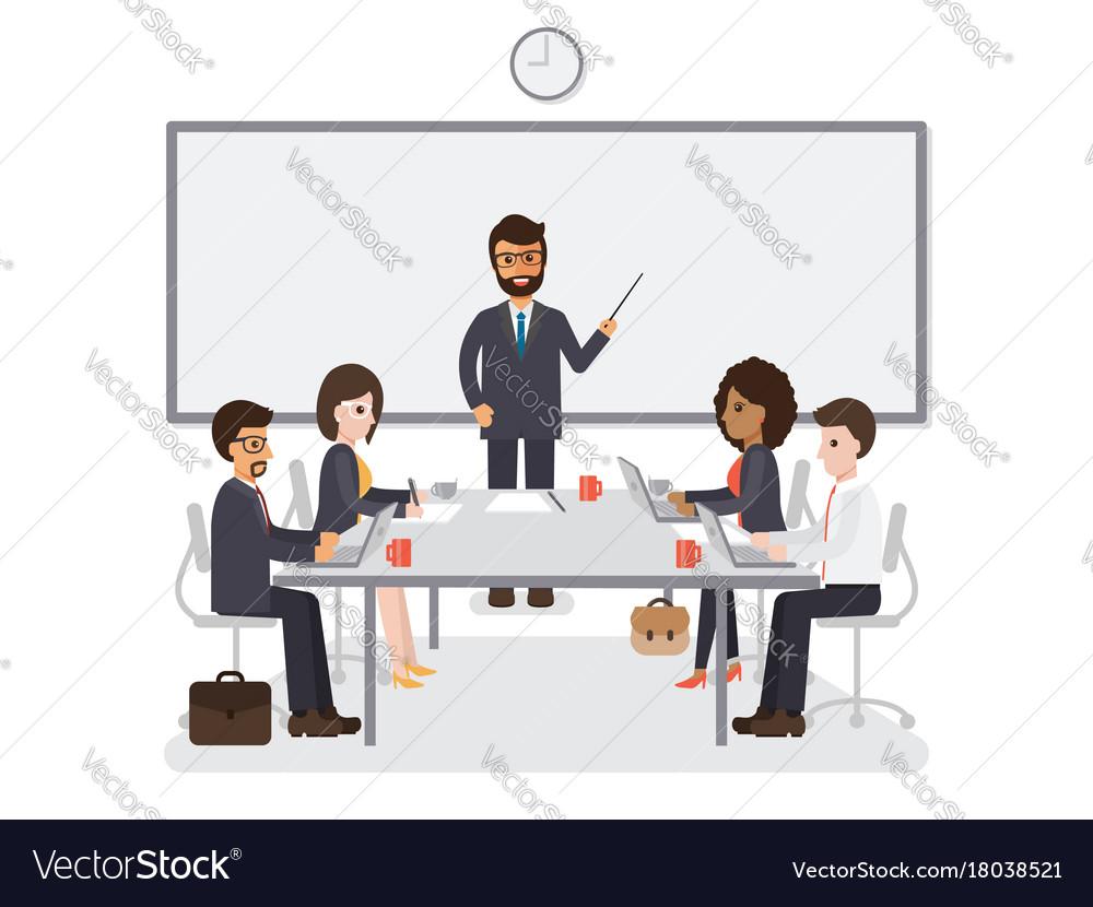 Businessmen and businesswomen meeting
