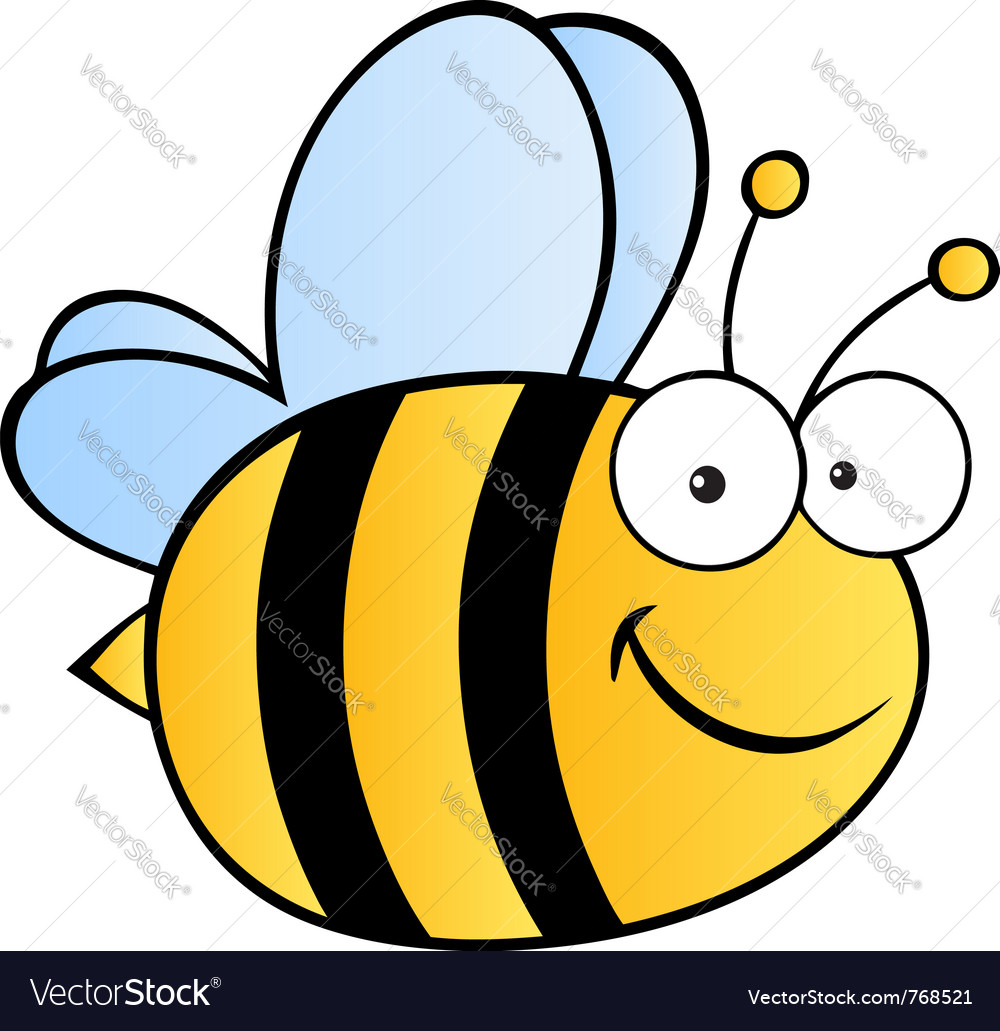 happy bee royalty free vector image vectorstock rh vectorstock com bee vector logo bee vector logo