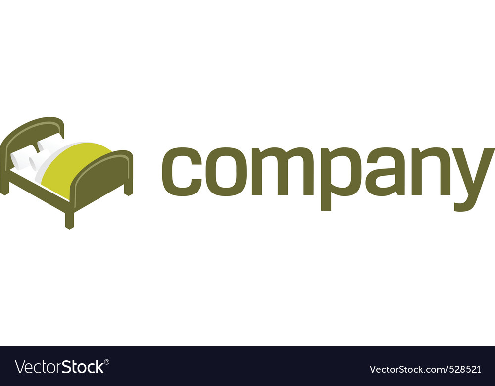 Logo For Bedroom Furniture Royalty Free Vector Image