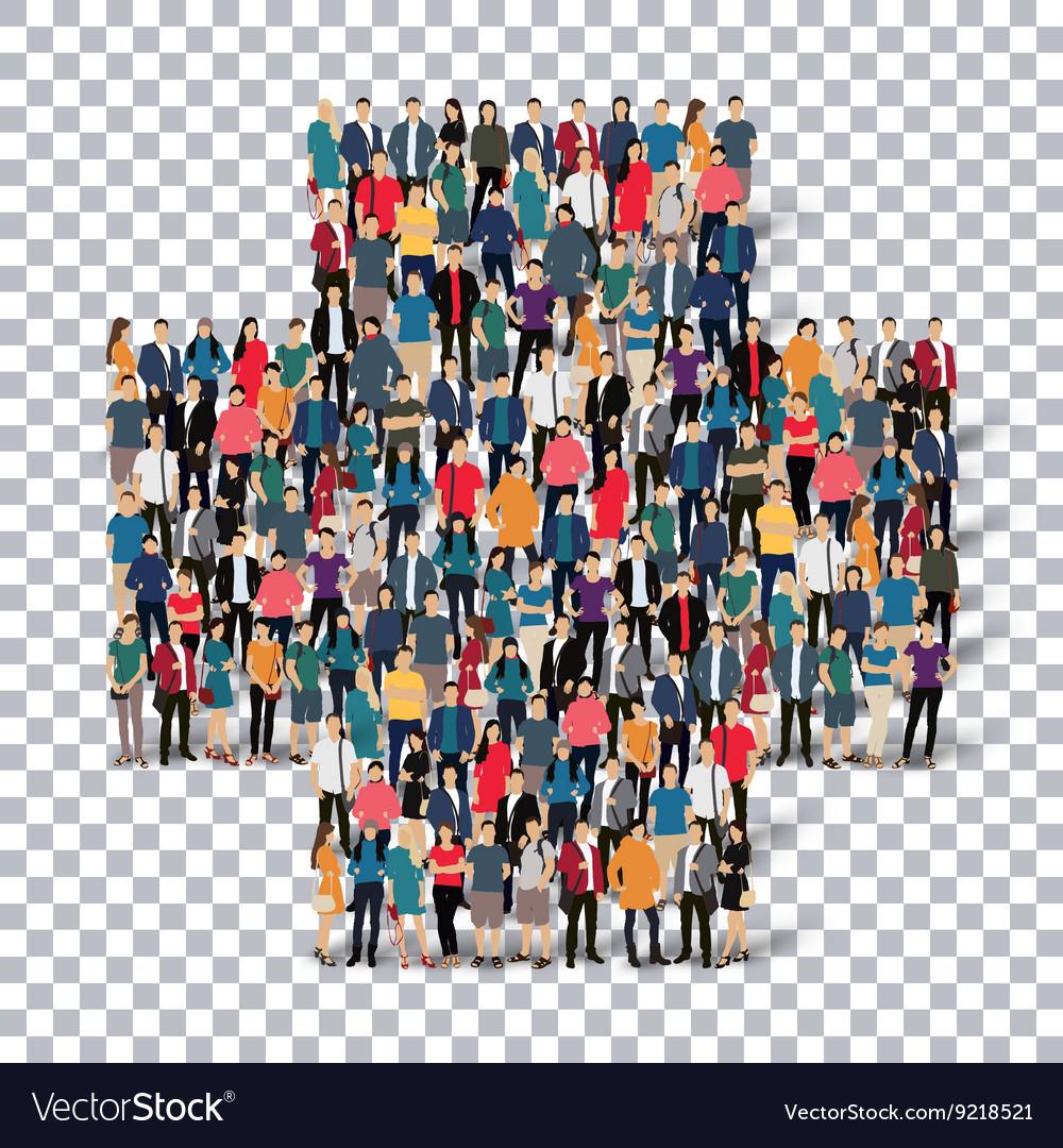 Plus medical symbol people vector image