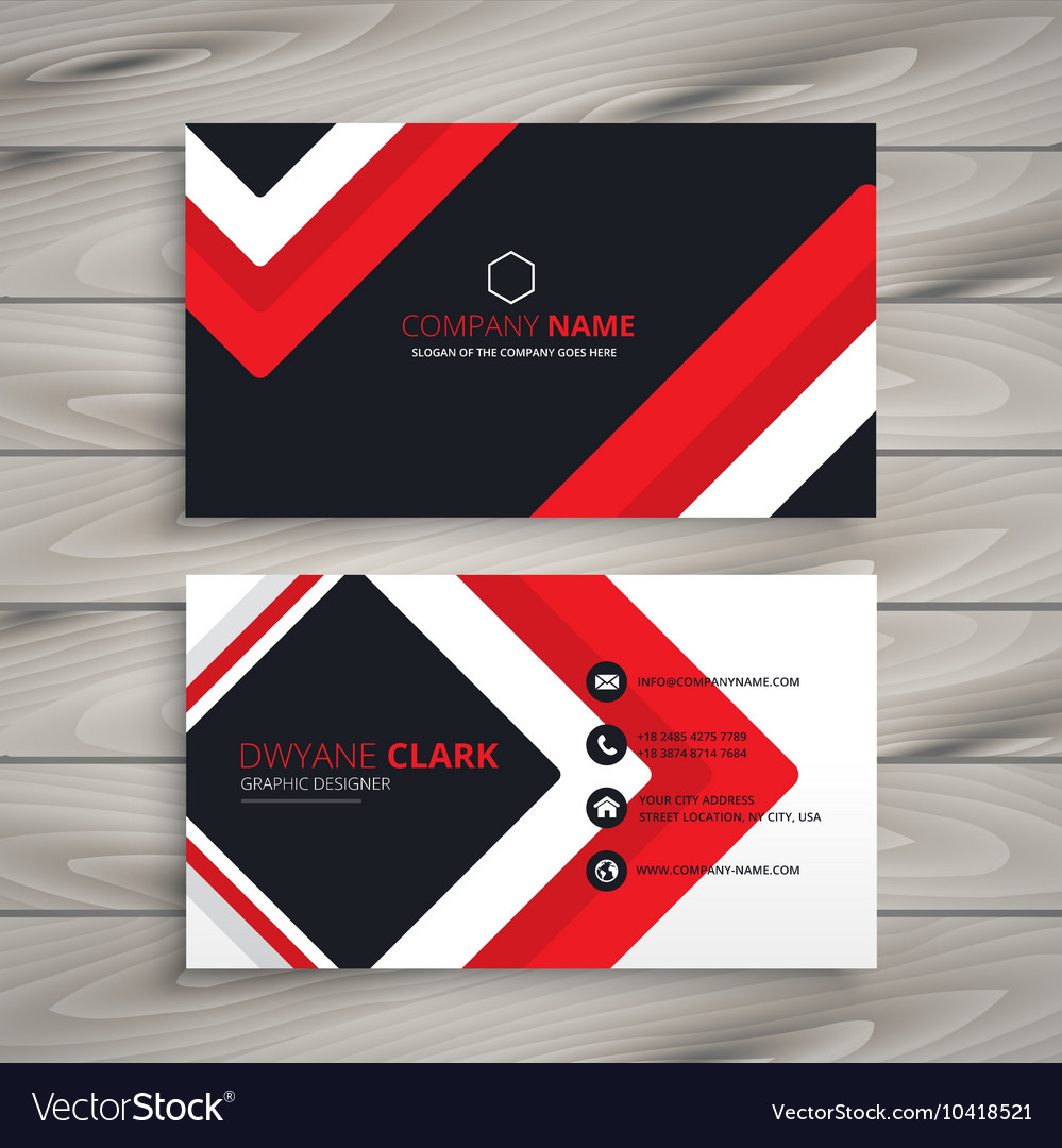 Red black business card royalty free vector image red black business card vector image colourmoves