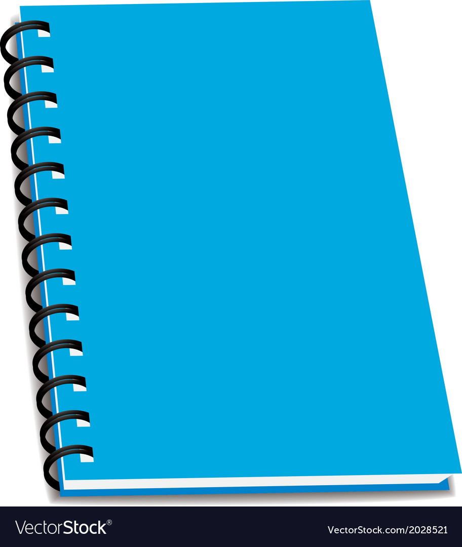 stack of ring binder book or notebook isolated vector image