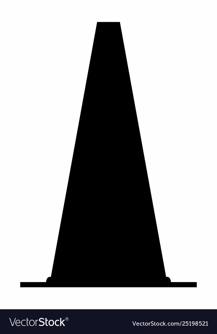 Traffic cone dark silhouette