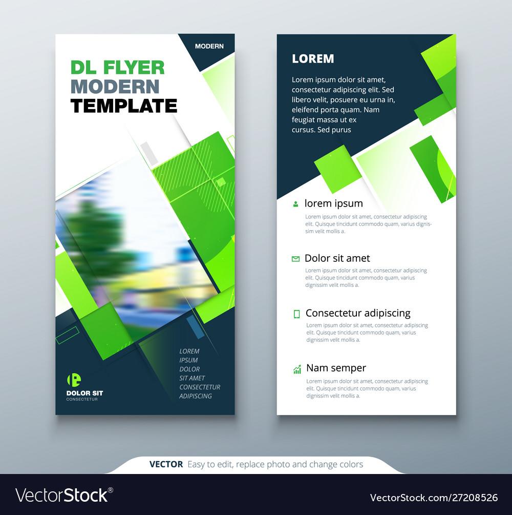 Dreen dl flyer design with square shapes
