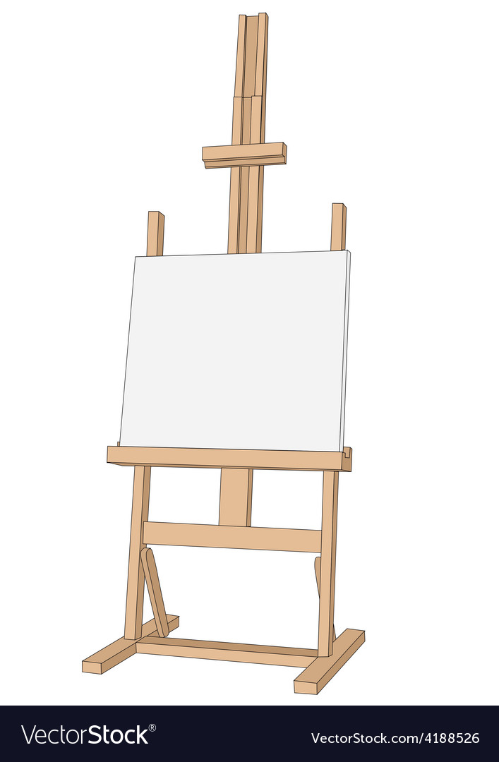 Easel paint vector image