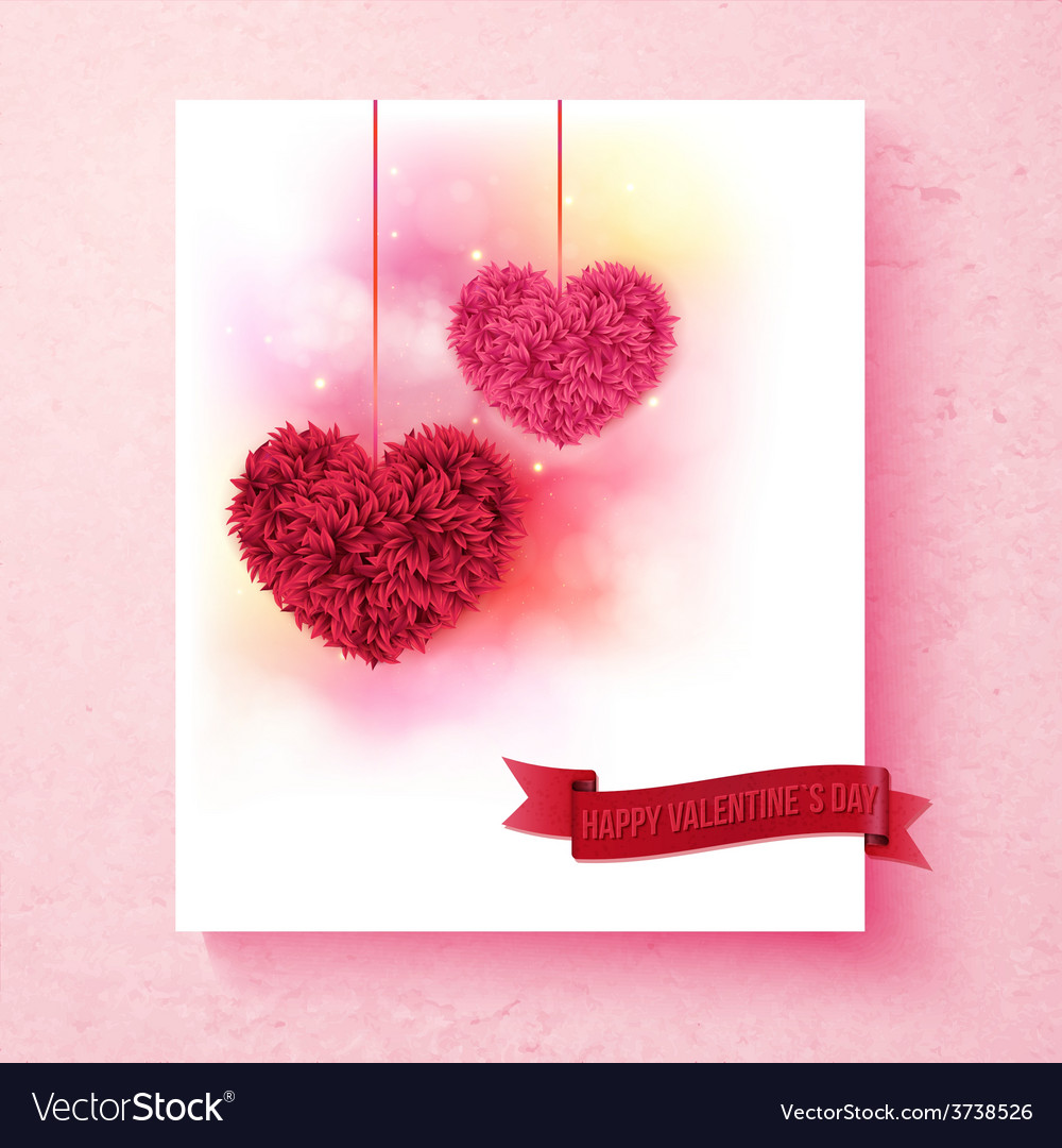Sentimental Valentine card design with hearts