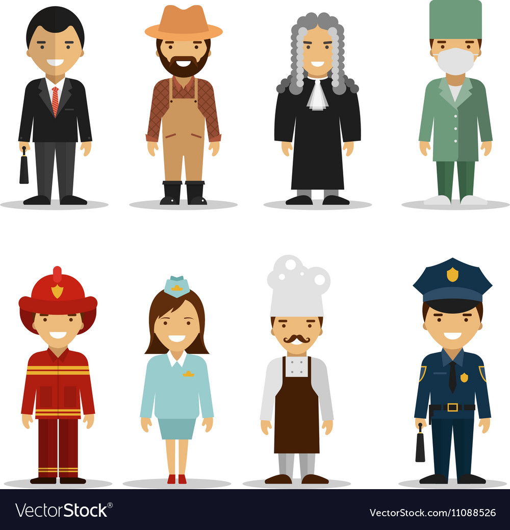 Set of different people professions vector image
