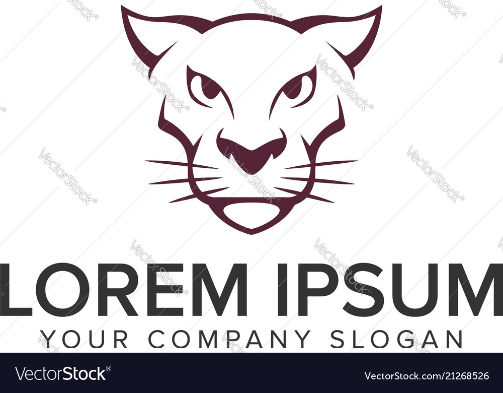Tiger panther head logo design concept template