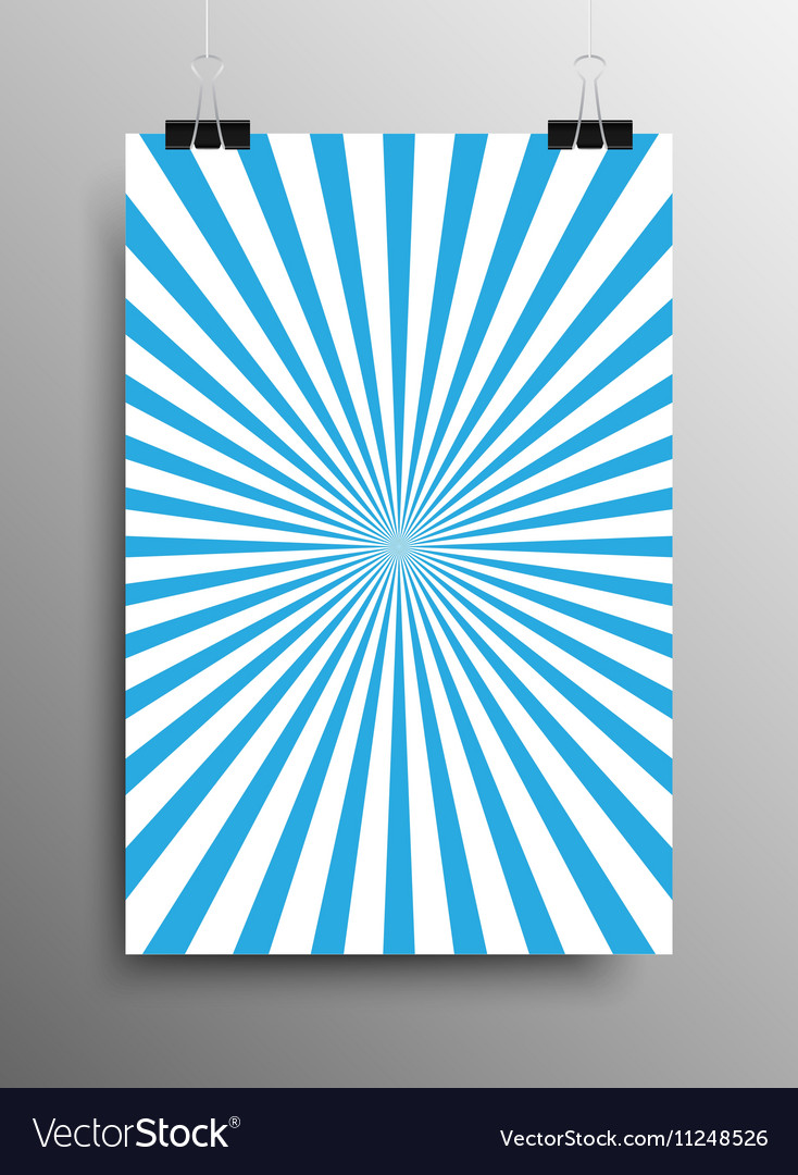 Vertical Poster Blue Shining Sun-Rays Rays