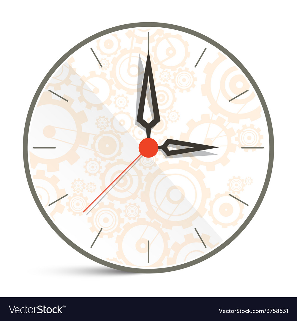 Abstract Clock Isolated on White Background
