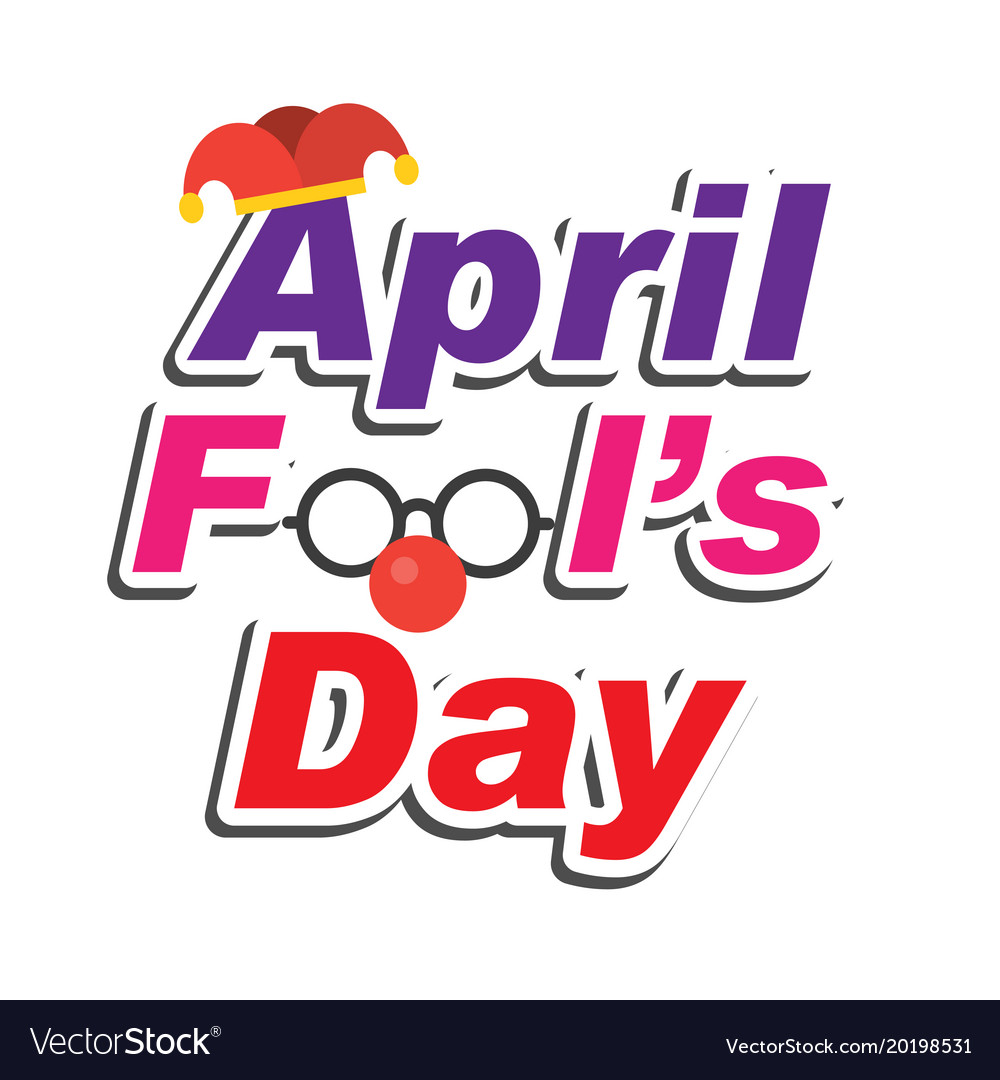 April fools day text and funny glasses imag