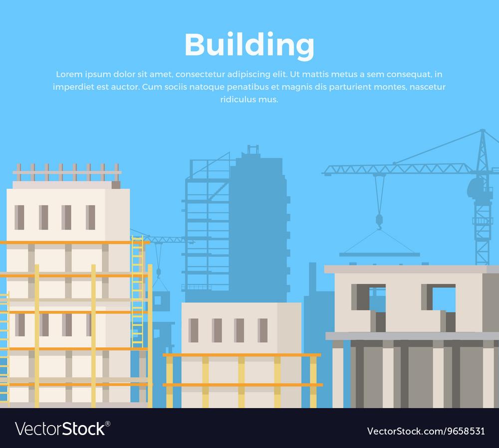 Building Landscape City Construction view vector image