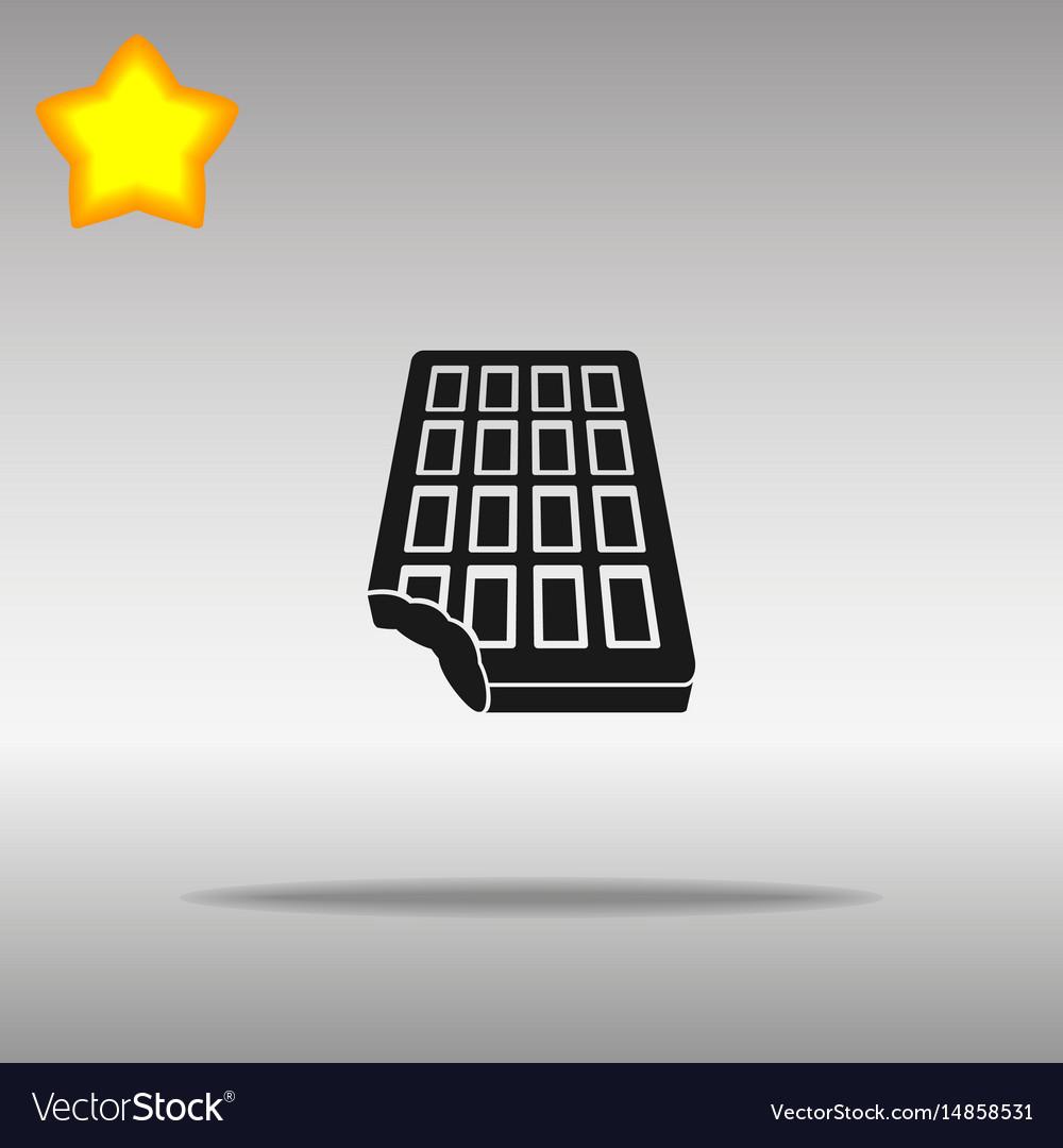 Chocolate black icon button logo symbol