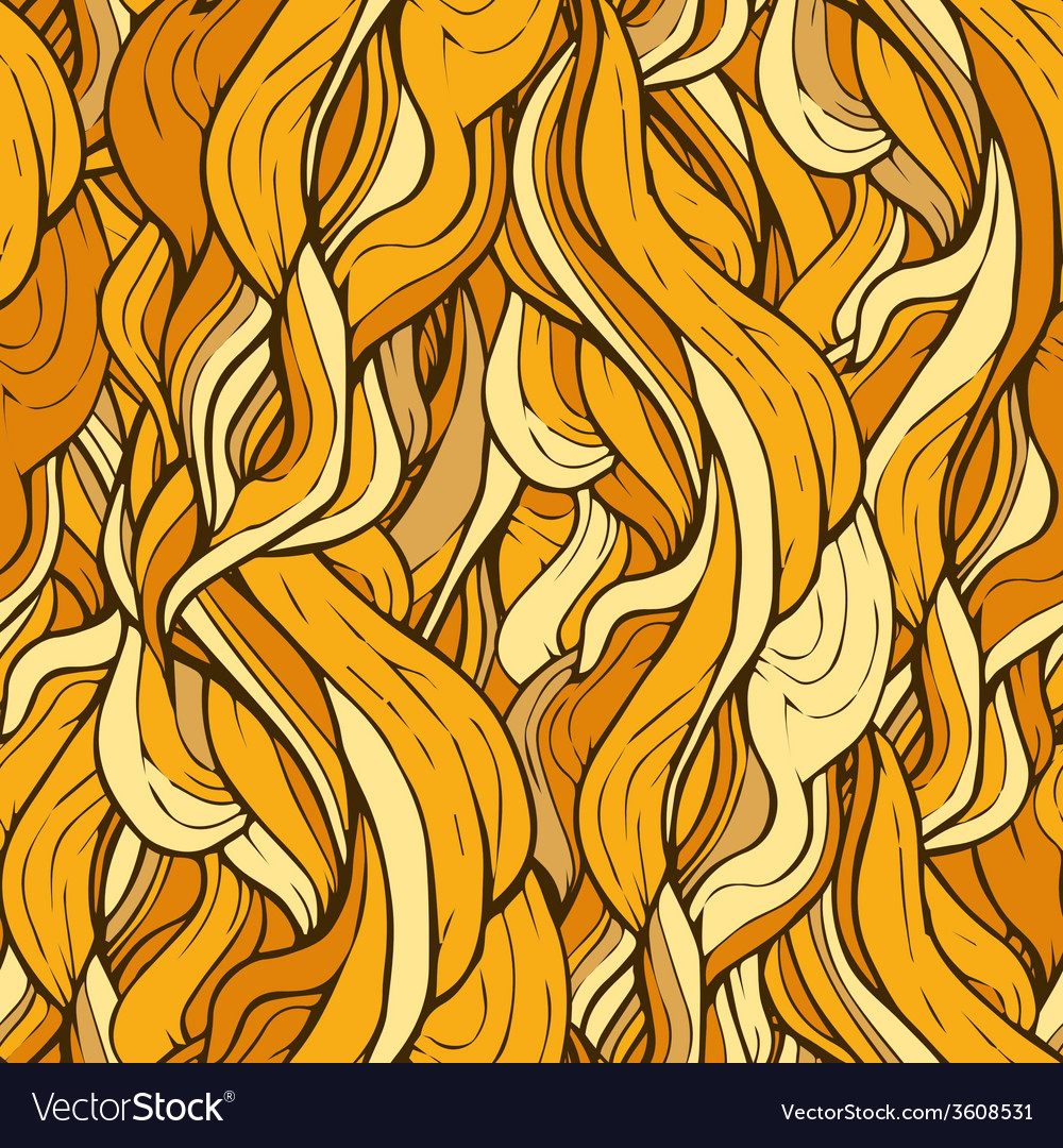 Decorative ornamental pattern with golden hair