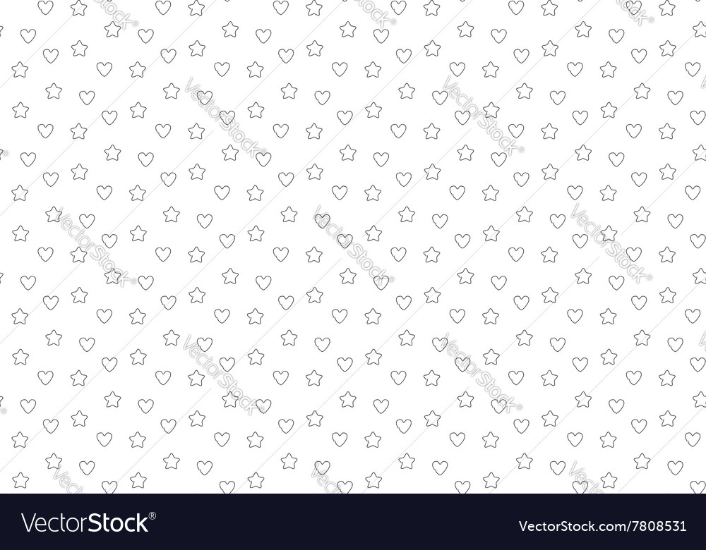 Favorite stars and hearts seamless background