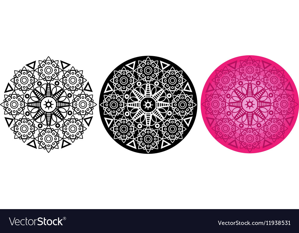 Flower mandala for coloring book Round pattern