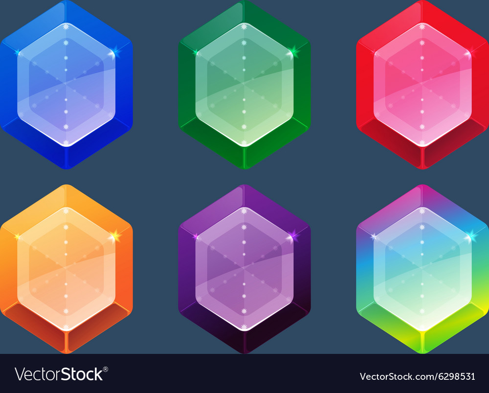 Gems And Jewels Icons Set for game user interface vector image