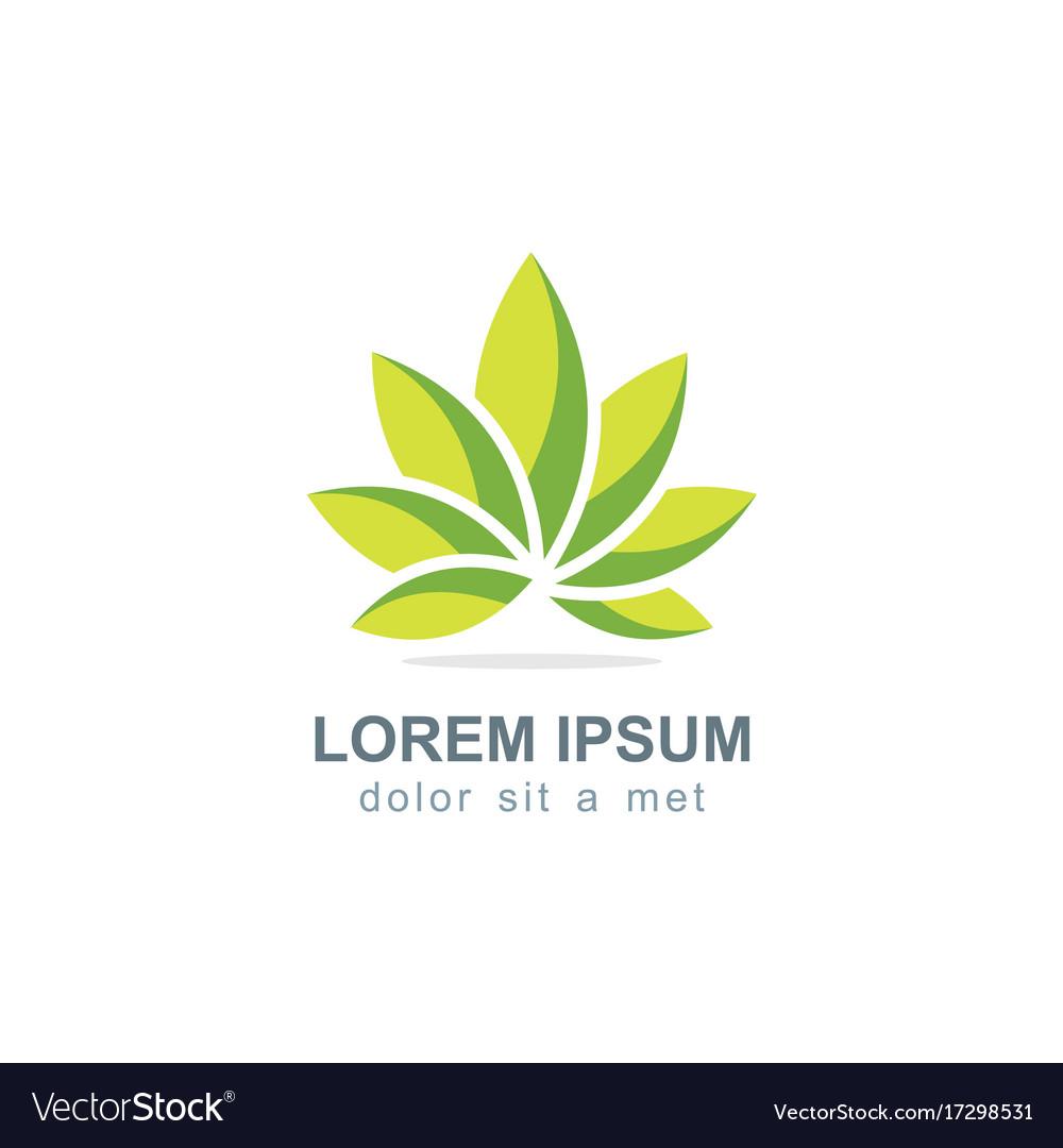 Green lotus flower logo royalty free vector image green lotus flower logo vector image izmirmasajfo