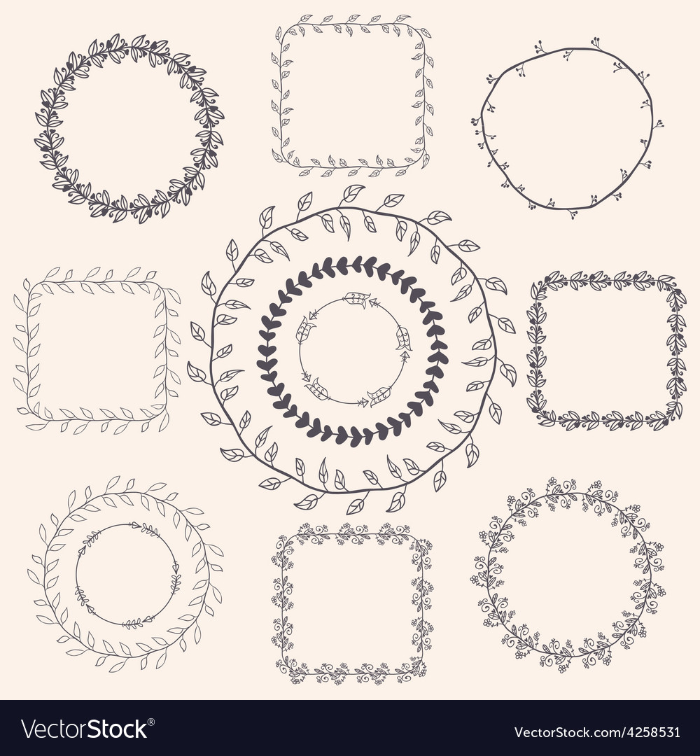 Handsketched Doodle Frames Design Elements