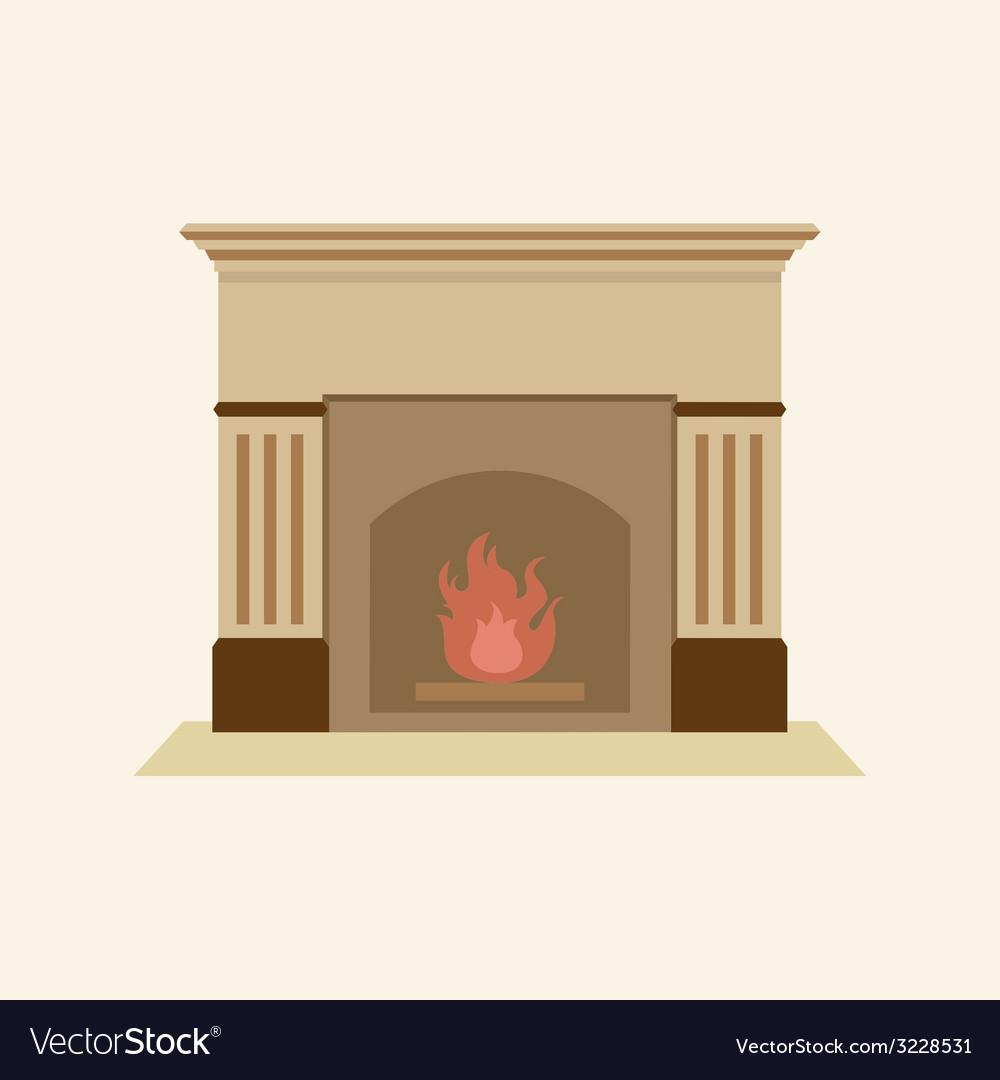 Modern Flat Design Fireplace