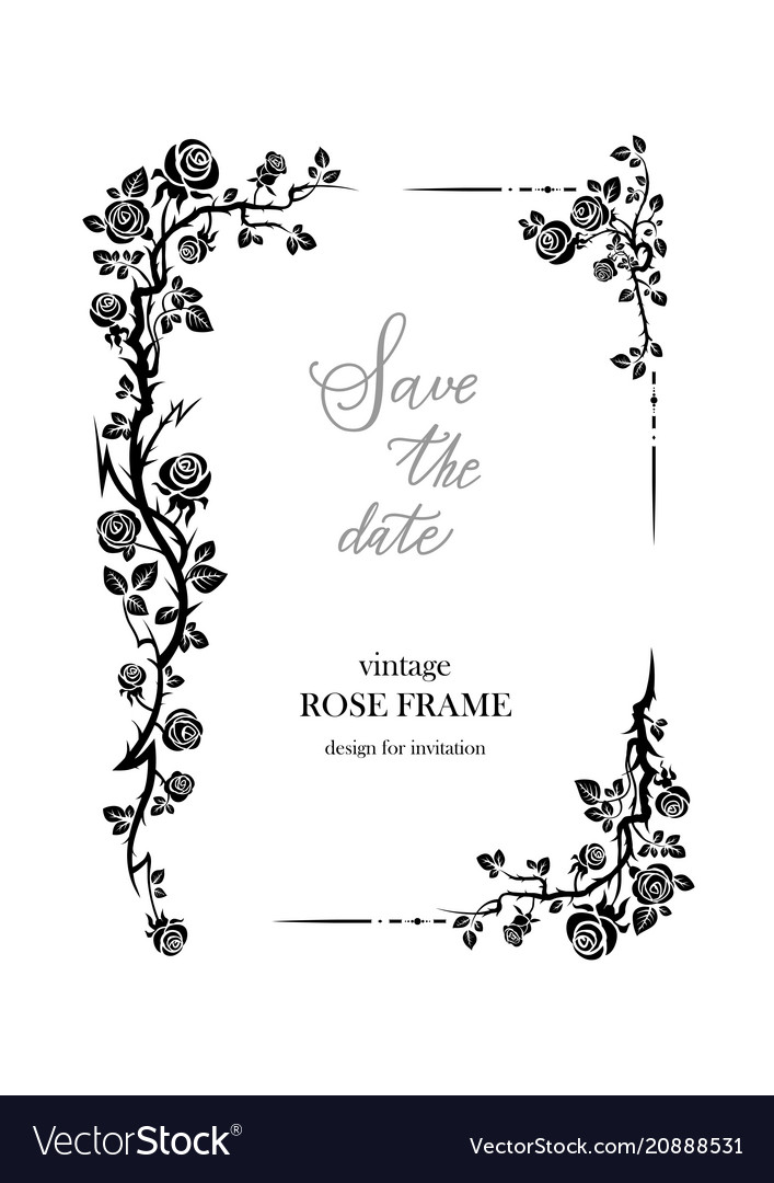 nature roses frame royalty free vector image vectorstock vectorstock