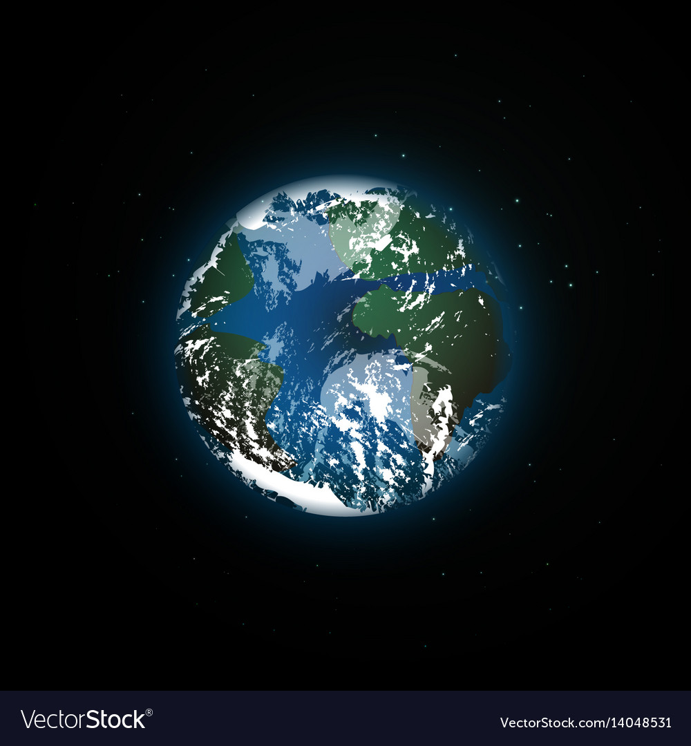 Planet in outer space earth vector image