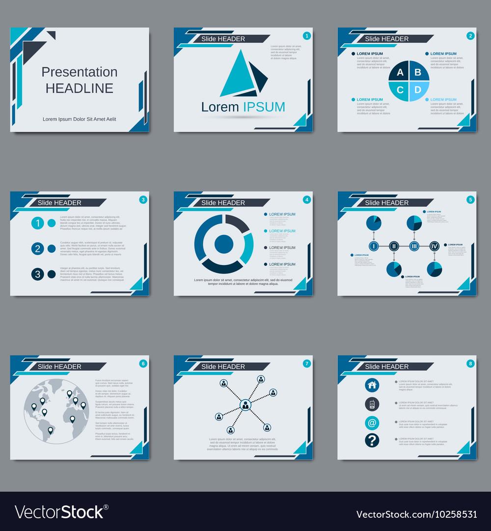 professional business presentation design vector image