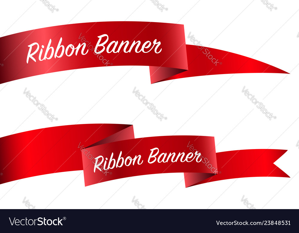 Ribbon set banner collection
