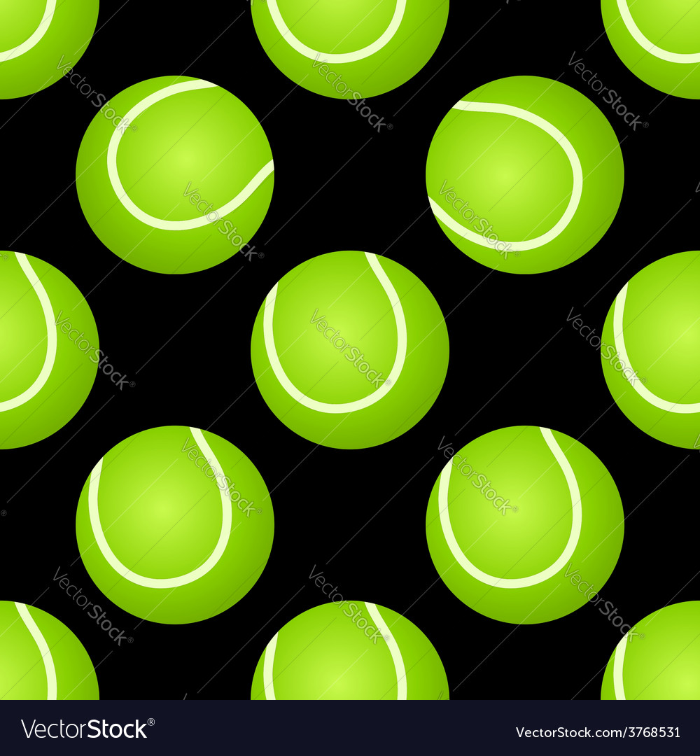 Seamless tennis ball pattern