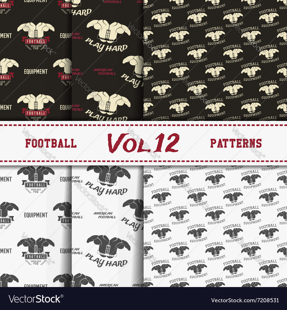 Set of american football patterns Usa sports