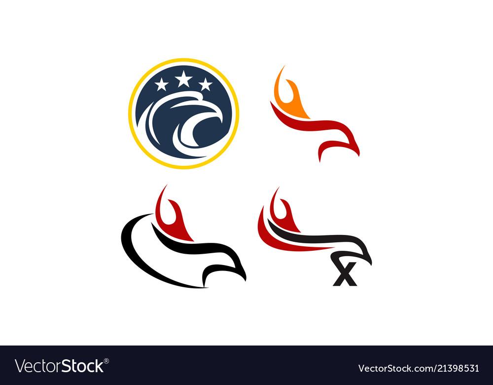 Swan template design set