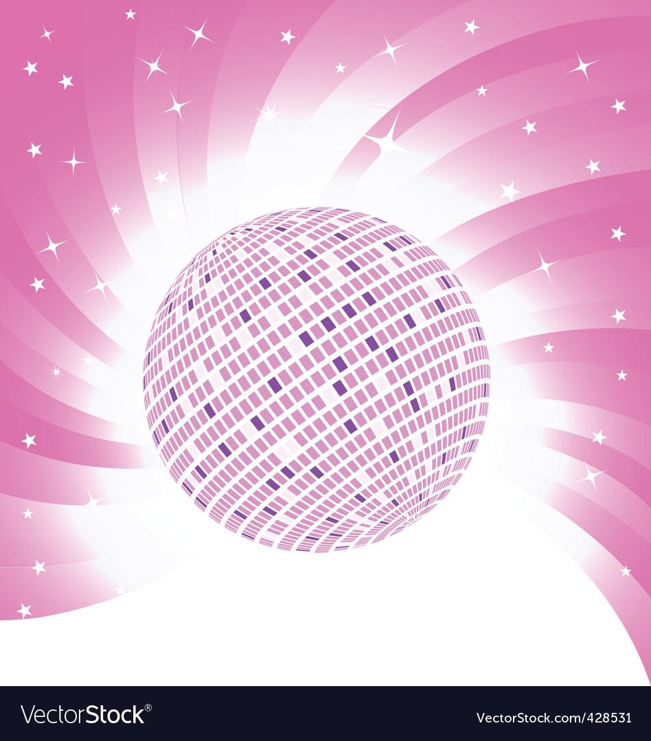 Vector pink background vector image