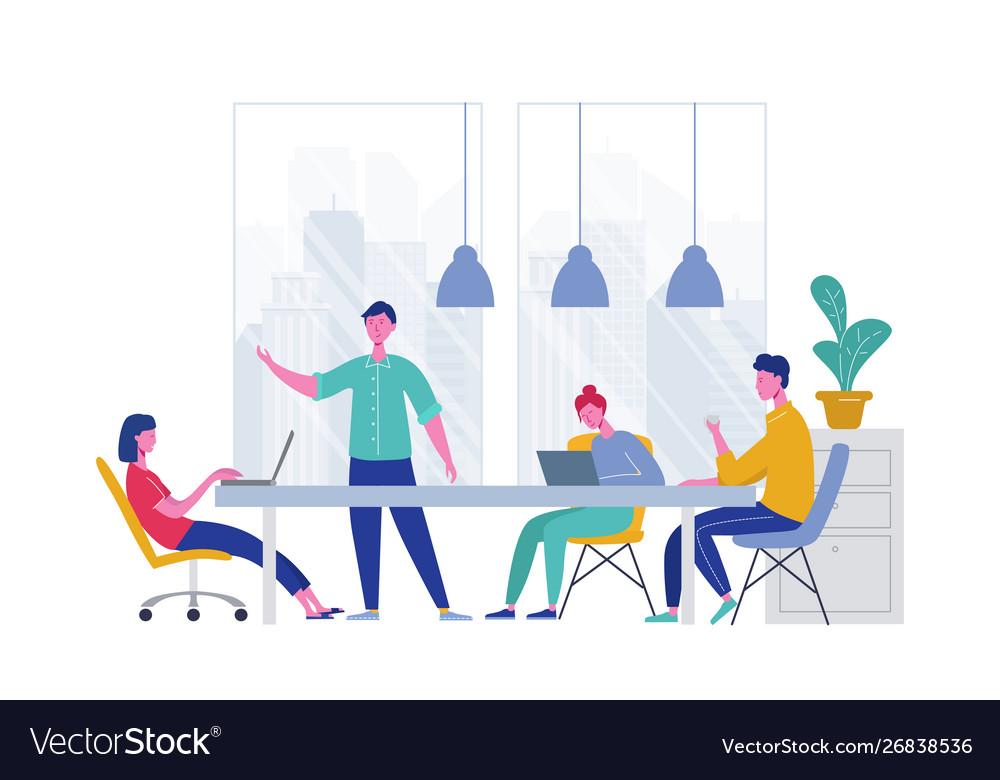 Business meeting teamwork concept businessman