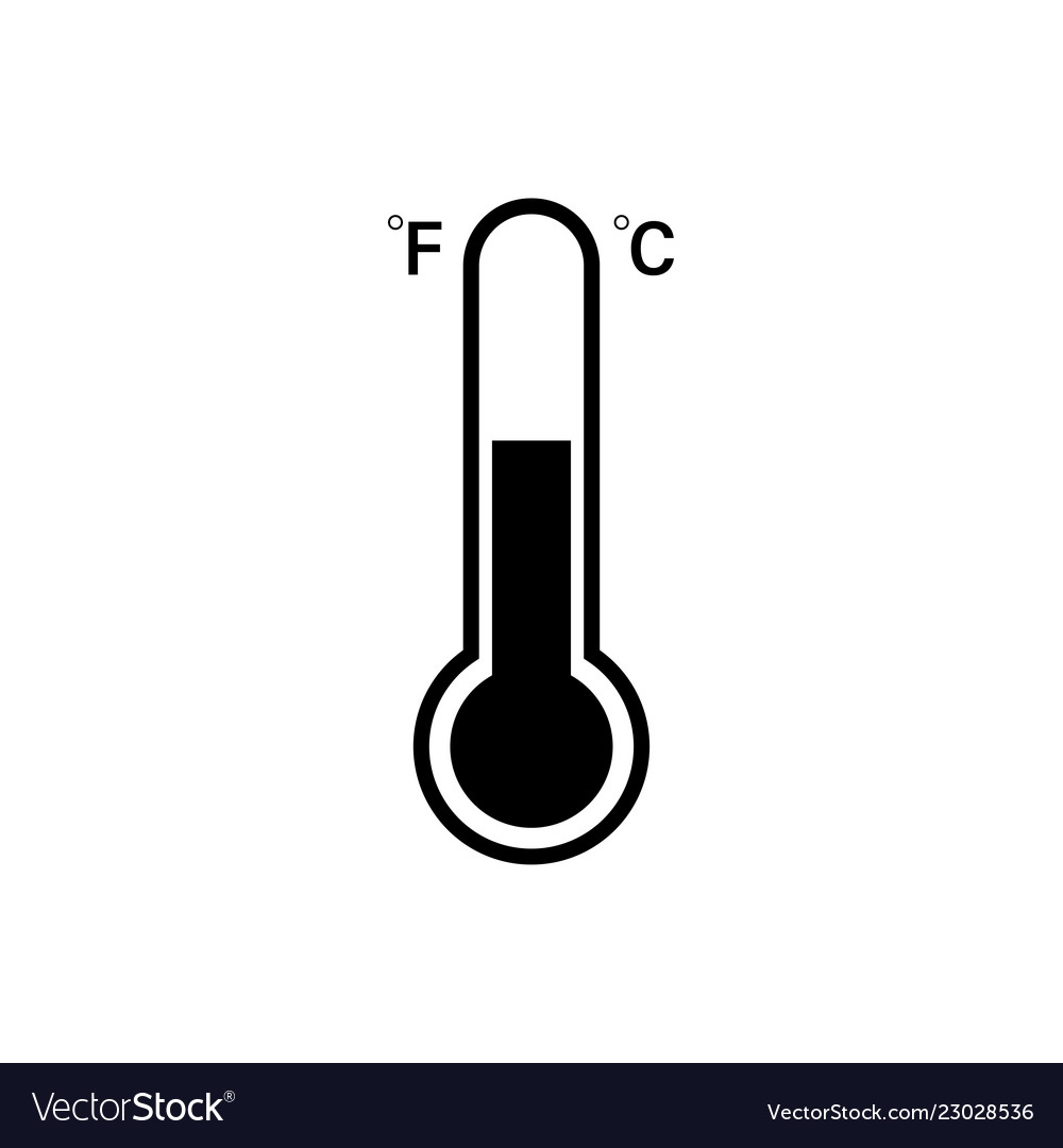 celsius and fahrenheit thermometer icon icon vector image