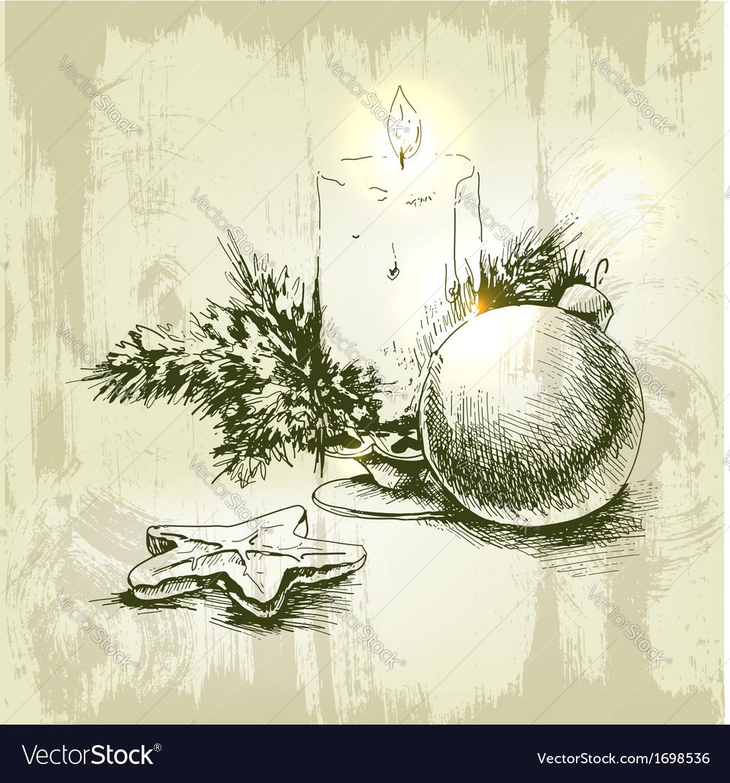 Christmas hand drawn fur tree for xmas design