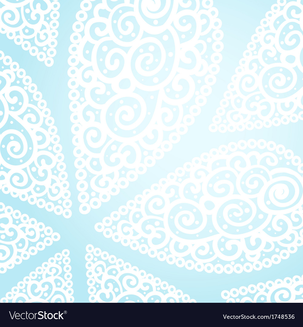Doodle twirl drops background vector image