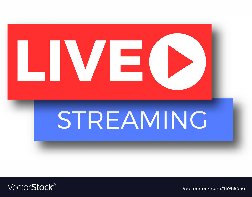 live stream tv logo icon royalty free vector image