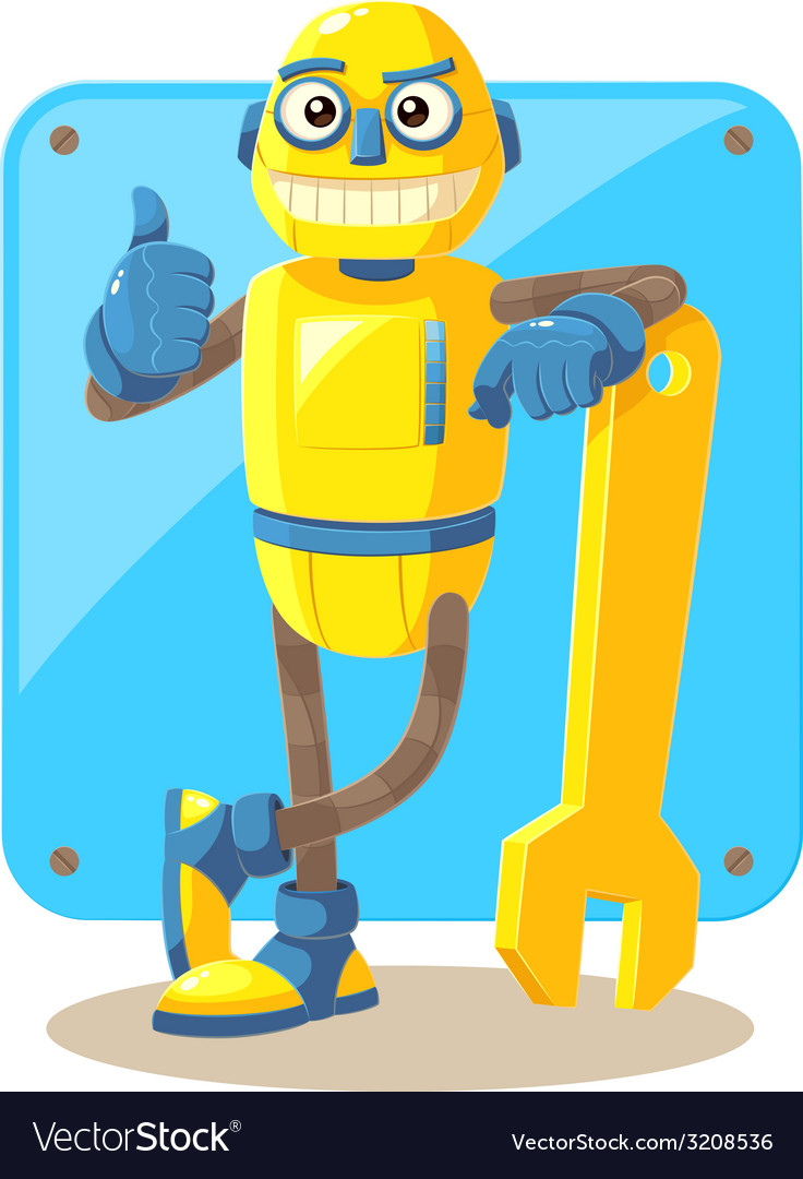 Mechanical Robot vector image