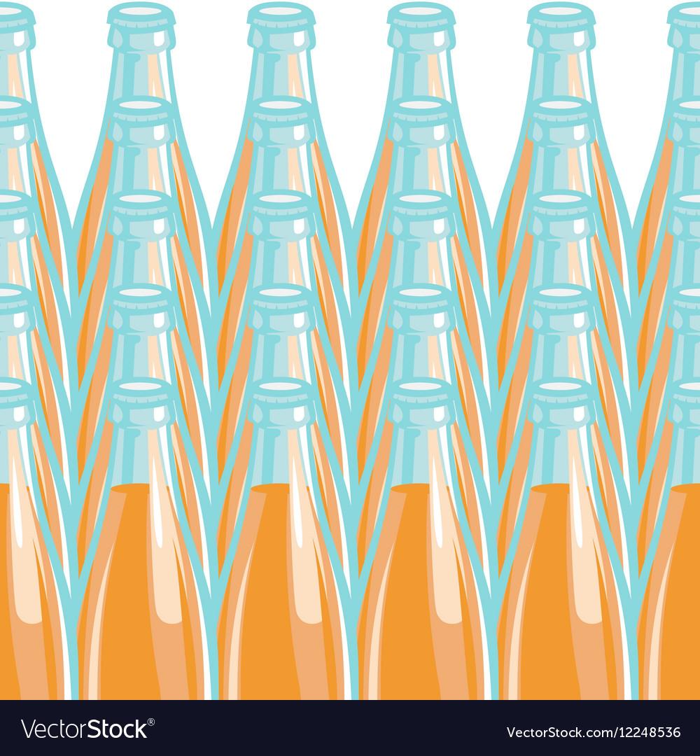 Pattern lemonade bottle