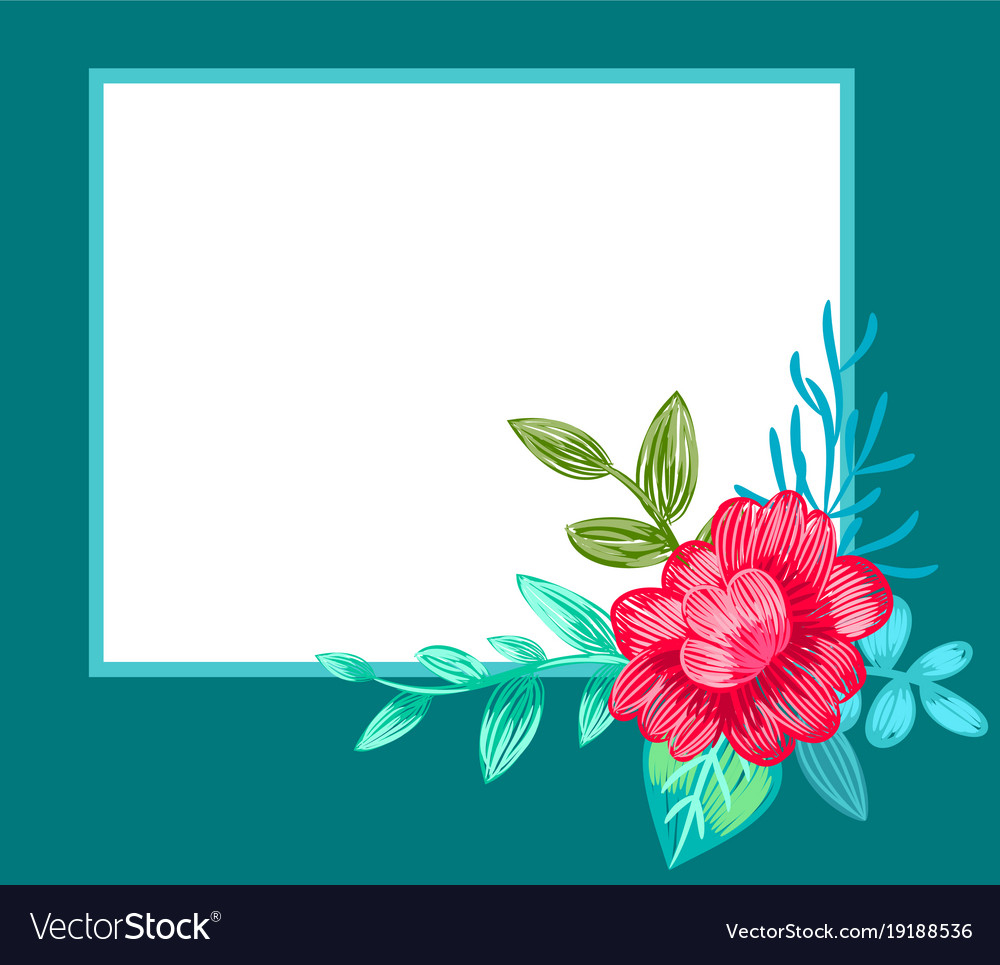 Postcard decorated with flower