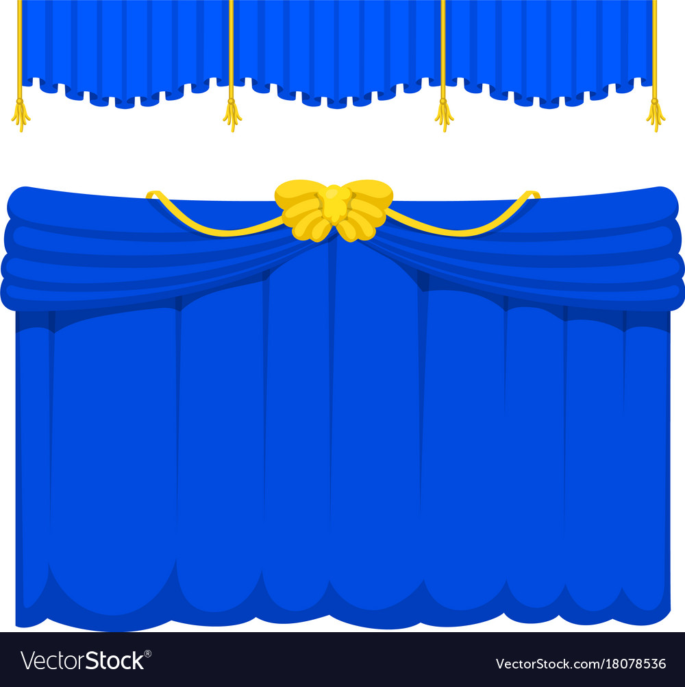 Theather scene blind blue curtain stage fabric