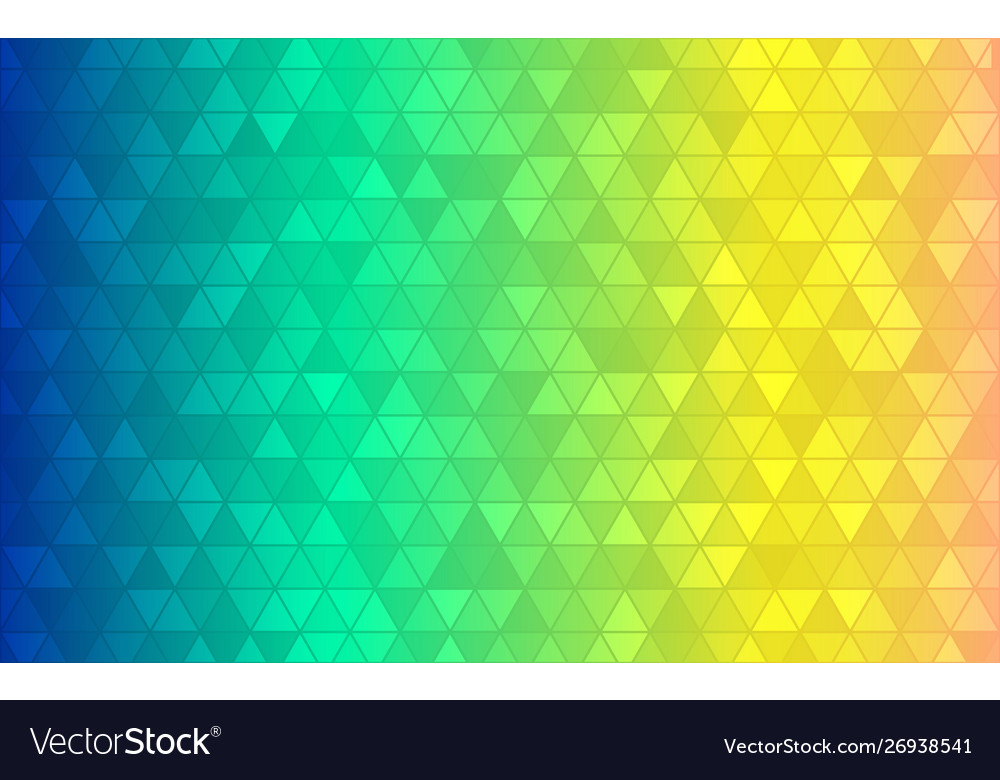 Abstract triangle background blue green yellow vector image