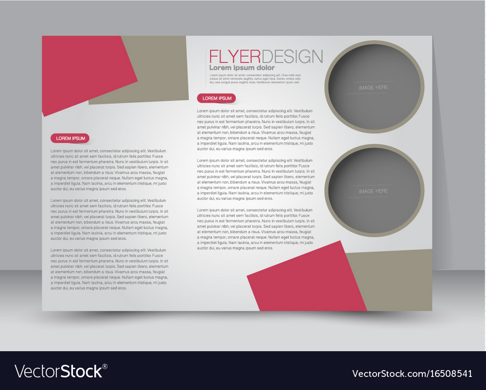 landscape billboard flyer template royalty free vector image