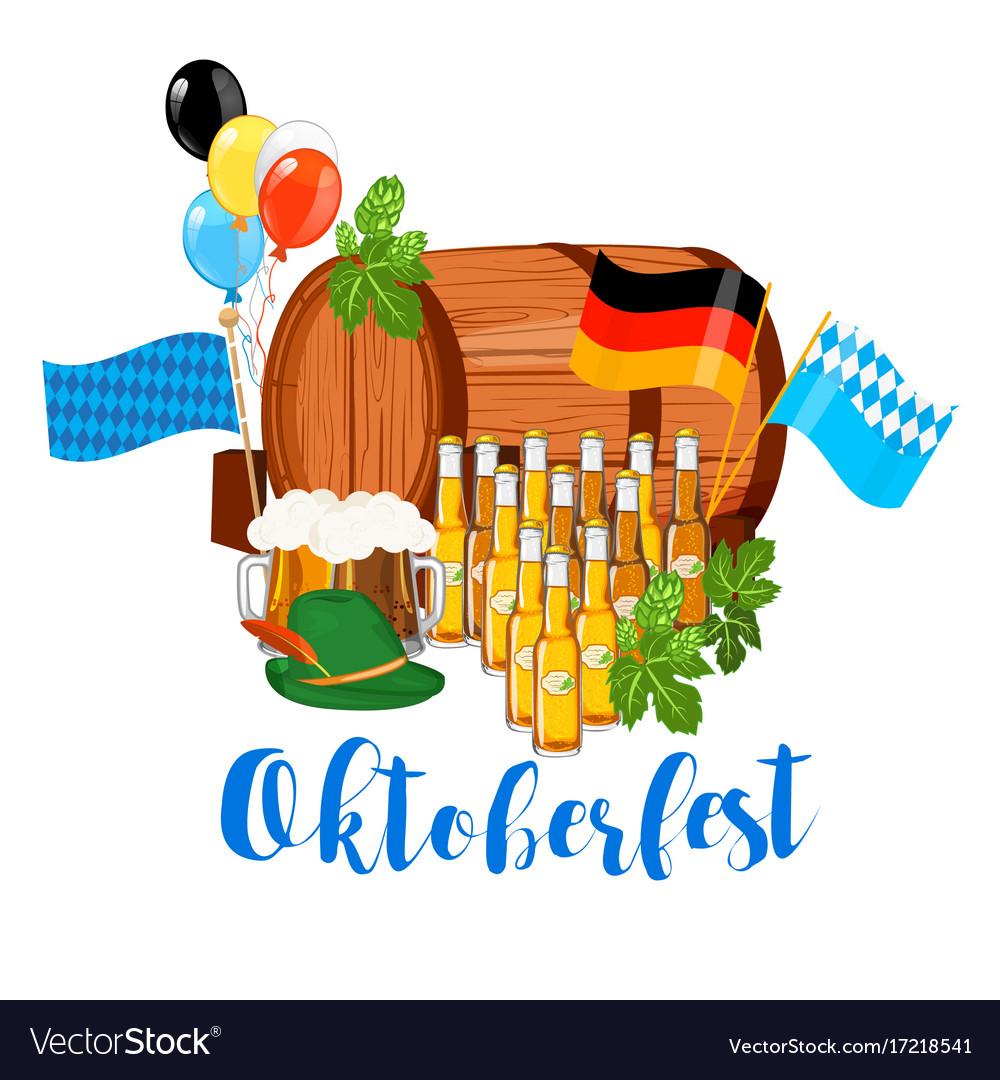 Oktoberfest design background beer festival